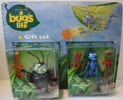 (TAS021131) - Disney/Pixar A Bug's Life Gift Set Francis/Slim & Glider Flik, , Action Figure, Mattel, The Angry Spider Vintage Toys & Collectibles Store  - 1
