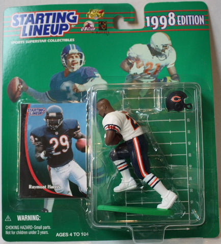 "(TAS021139) - Starting Lineup NFL ""Raymont Harris"" 1998 Edition - Bears, , Action Figure, Starting Lineup, The Angry Spider Vintage Toys & Collectibles Store  - 1"