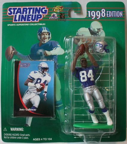 "(TAS021141) - Starting Lineup NFL ""Joey Galloway"" 1998 Edition - Seahawks, , Action Figure, Starting Lineup, The Angry Spider Vintage Toys & Collectibles Store  - 1"