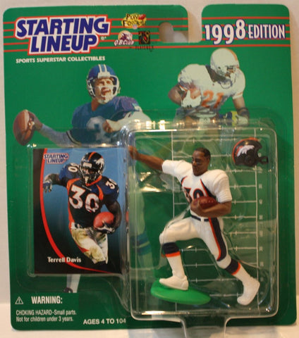 "(TAS021145) - Starting Lineup NFL ""Terrell Davis"" 1998 Edition - Broncos, , Action Figure, Starting Lineup, The Angry Spider Vintage Toys & Collectibles Store  - 1"