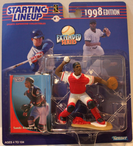 "(TAS021154) - Starting Lineup MLB ""Sandy Alomar, Jr."" 1998 Edition - Indians, , Action Figure, Starting Lineup, The Angry Spider Vintage Toys & Collectibles Store  - 1"