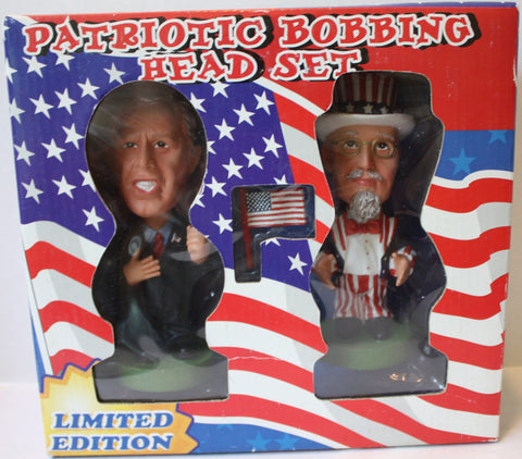 (TAS021199) - Patriotic Bobbing Head Set Limited Edition, , Bobble Head, n/a, The Angry Spider Vintage Toys & Collectibles Store  - 1