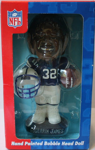 "(TAS021200) - NFL ""Edgerrin James"" Hand Painted Bobble Head - Colts, , Bobble Head, NFL, The Angry Spider Vintage Toys & Collectibles Store  - 1"