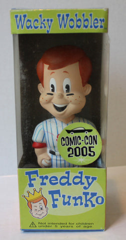 (TAS021204) - Wacky Wobbler Freddy Funko Comic-Con 2005 Baseball Pitcher, , Bobble Head, Funko, The Angry Spider Vintage Toys & Collectibles Store  - 1