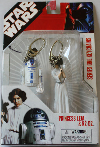 "(TAS021229) Star Wars Series One Keychains ""Princess Leia & R2D2"", , Key Chain, Star Wars, The Angry Spider Vintage Toys & Collectibles Store  - 1"