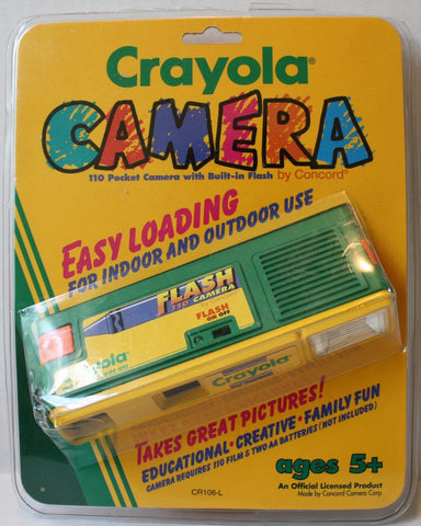 (TAS021232) - Crayola Camera 110 Pocket Camera with Built-in Flash by Concord, , Camera, Crayola, The Angry Spider Vintage Toys & Collectibles Store  - 1