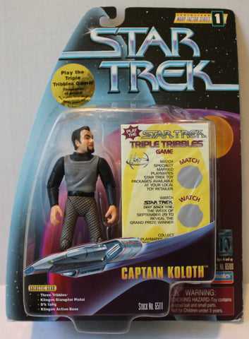 "(TAS021253) - Playmates Star Trek:  ""Captain Koloth"", , Action Figure, Star Trek, The Angry Spider Vintage Toys & Collectibles Store  - 1"