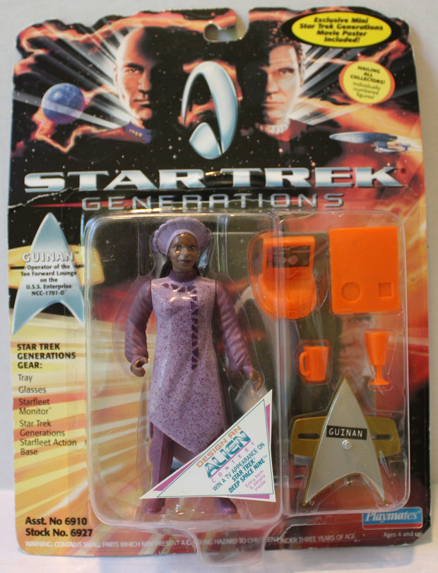 "(TAS021255) - Playmates Star Trek Generations: ""Guinan"", , Action Figure, Star Trek, The Angry Spider Vintage Toys & Collectibles Store  - 1"