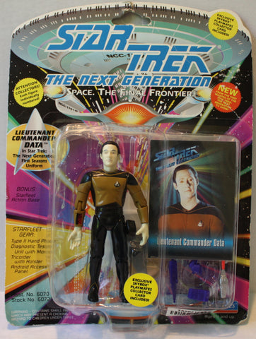 "(TAS021268) - Playmates Star Trek: The Next Generation ""Lt. Cmdr Data"" 1993, , Action Figure, Star Trek, The Angry Spider Vintage Toys & Collectibles Store  - 1"