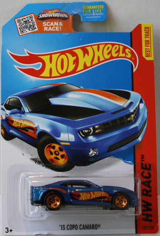 (TAS021305) - Hot Wheels Race 2015 - '13 Copo Camaro - 127/250, , Cars, Hot Wheels, The Angry Spider Vintage Toys & Collectibles Store  - 1