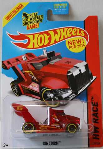 (TAS021314) - 2015 Hot Wheels Die-Cast Rig Storm, , Cars, Hot Wheels, The Angry Spider Vintage Toys & Collectibles Store  - 1