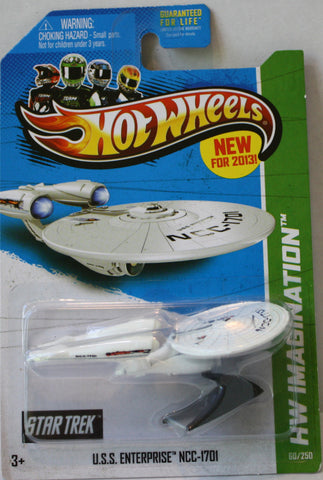 (TAS021326) - 2013 Hot Wheels Die-Cast U.S.S. Enterprise NCC-1701, , Cars, Hot Wheels, The Angry Spider Vintage Toys & Collectibles Store  - 1