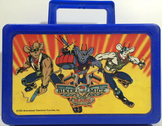 TAS037989 - 1993 Biker Mice From Mars Plastic Pencil Box