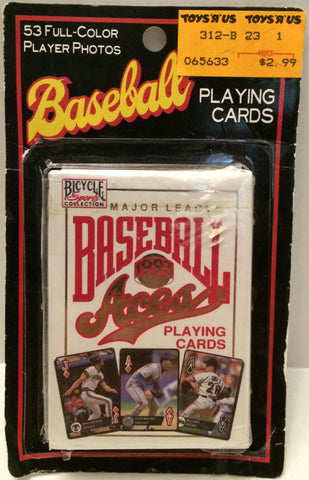 (TAS030686) - 1993 MLB Bicycle Sports Playing Cards - Baseball Aces, , Playing Cards, MLB, The Angry Spider Vintage Toys & Collectibles Store