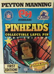 (TAS030711) - NFL QB Club Collectible Pinheads Lapel Pin - Peyton Manning Colts, , Pins, NFL, The Angry Spider Vintage Toys & Collectibles Store