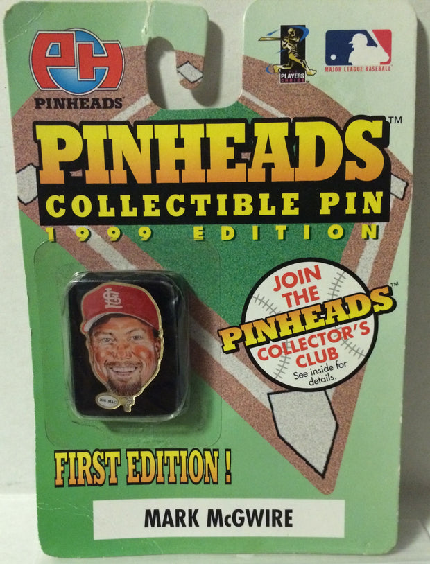 (TAS030712) - MLB Collectible Pinheads Lapel Pin - Mark McGwire, , Pins, MLB, The Angry Spider Vintage Toys & Collectibles Store