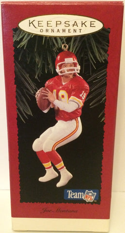 (TAS031165) - Hallmark Keepsake Ornament - Joe Montana NFL Chiefs, , Ornament, NFL, The Angry Spider Vintage Toys & Collectibles Store  - 1
