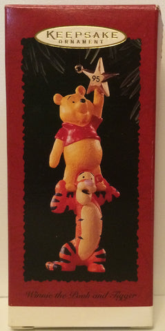 (TAS031175) - Hallmark Keepsake Ornament - Winnie the Pooh and Tigger, , Ornament, Hallmark, The Angry Spider Vintage Toys & Collectibles Store  - 1
