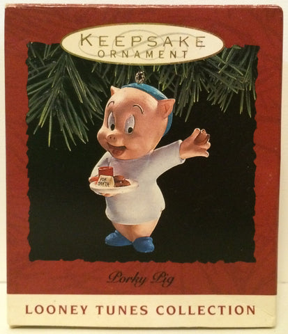 (TAS031176) - Hallmark Keepsake Ornament - Looney Tunes Porky Pig, , Ornament, Hallmark, The Angry Spider Vintage Toys & Collectibles Store  - 1