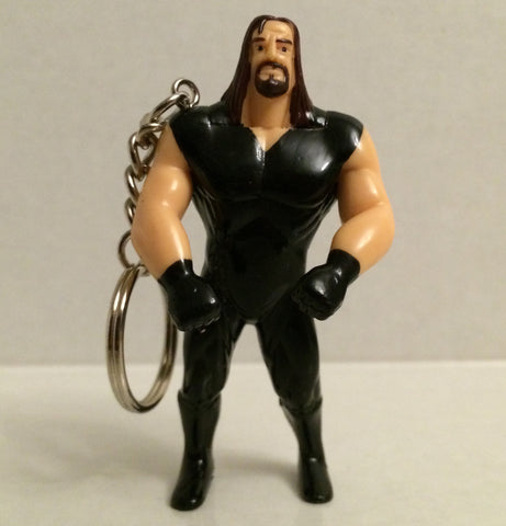 (TAS031316) - WWF WWE Just Toys Bend-Ems Action Figure Keychain – Undertaker, , Keychain, Just Toys, The Angry Spider Vintage Toys & Collectibles Store