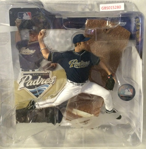 (TAS031407) - 2006 McFarlane Toys Jake Peavy Baseball Figure - San Diego Padres, , Action Figure, McFarlane Toys, The Angry Spider Vintage Toys & Collectibles Store
