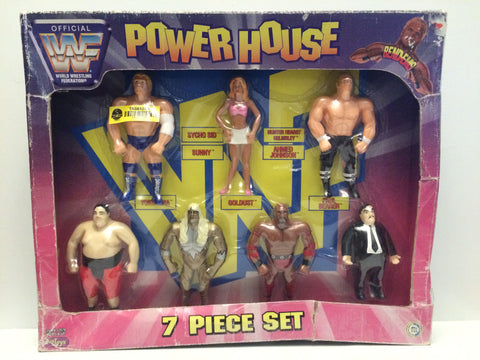 (TAS031412) - 1997 Just Toys WWF WWE Power House 7 Piece Bend-Ems Set, , Action Figure, Wrestling, The Angry Spider Vintage Toys & Collectibles Store  - 1