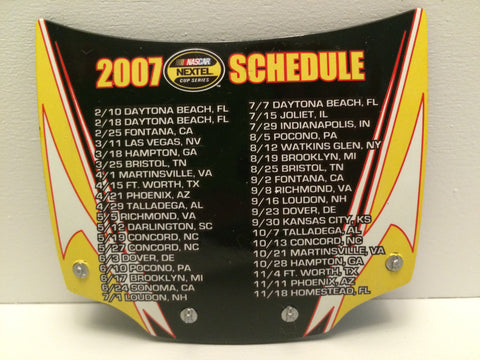 (TAS031445) - Action MotorSports Mini Nascar  Hood Magnet - 2007 Nextel Schedule, , Magnets, Nascar, The Angry Spider Vintage Toys & Collectibles Store  - 1