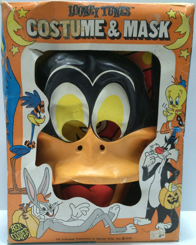 (TAS031611) - 1983 Looney Tunes Costume & Mask - Daffy Duck, , Costume, Looney Tunes, The Angry Spider Vintage Toys & Collectibles Store  - 1