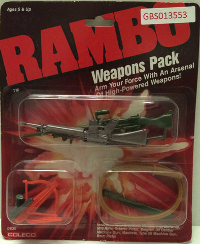(TAS031740) - Coleco Vintage Rambo Action Figure Weapons Pack, , Action Figure, Rambo, The Angry Spider Vintage Toys & Collectibles Store
