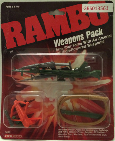 (TAS031744) - Coleco Vintage Rambo Action Figure Weapons Pack, , Action Figure, Rambo, The Angry Spider Vintage Toys & Collectibles Store