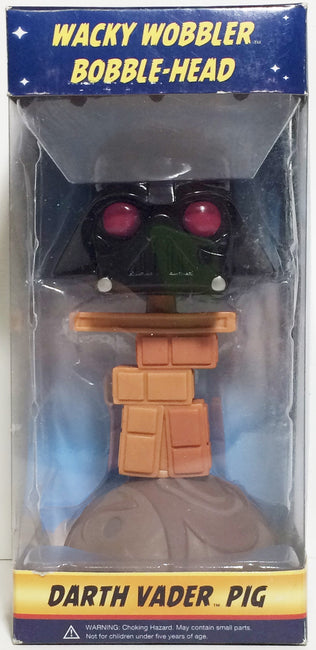 (TAS031756) - Wacky Wobbler Bobble Head Star Wars Angry Birds - Darth Vader Pig, , Bobblehead, Star Wars, The Angry Spider Vintage Toys & Collectibles Store  - 1