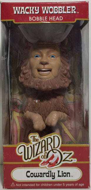 (TAS031758) - Wacky Wobbler Bobble Head - The Wizard Of Oz Cowardly Lion, , Bobblehead, The Wizard of Oz, The Angry Spider Vintage Toys & Collectibles Store  - 1