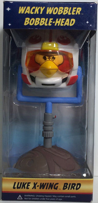 (TAS031760) - Wacky Wobbler Bobble Head Star Wars Angry Birds - Luke X-Wing Bird, , Bobblehead, Angry Birds, The Angry Spider Vintage Toys & Collectibles Store  - 1
