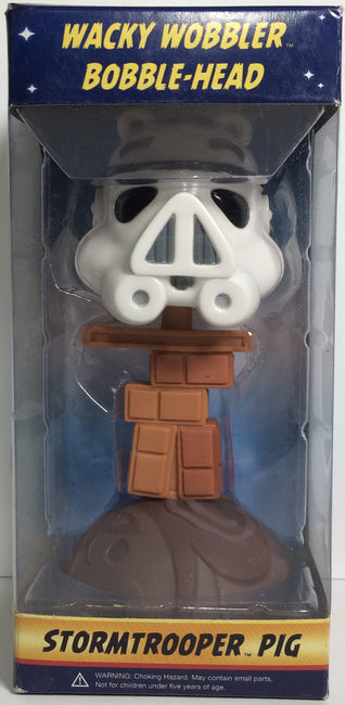 (TAS031765) - Wacky Wobbler Bobble Head Star Wars Angry Bird - Stormtrooper Pig, , Bobblehead, Angry Birds, The Angry Spider Vintage Toys & Collectibles Store  - 1