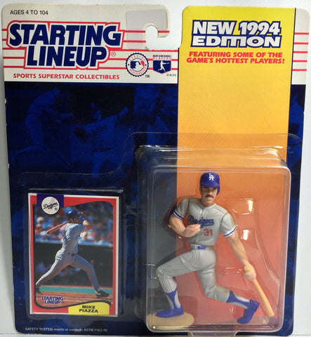 (TAS031772) - 1994 Kenner Starting Lineup MLB - Mike Piazza #31 LA Dodgers, , Action Figure, MLB, The Angry Spider Vintage Toys & Collectibles Store  - 1