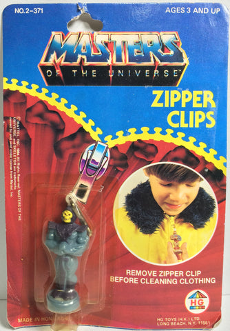 (TAS031786) - 1984 HG Mattel Masters Of The Universe Zipper Clips - Skeletor, , Zipper Clips, MOTU, The Angry Spider Vintage Toys & Collectibles Store  - 1