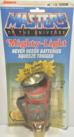 (TAS031802) - 1983 Janex Masters Of The Universe Mighty-Light - He-Man, , Lights & Lamps, MOTU, The Angry Spider Vintage Toys & Collectibles Store  - 1