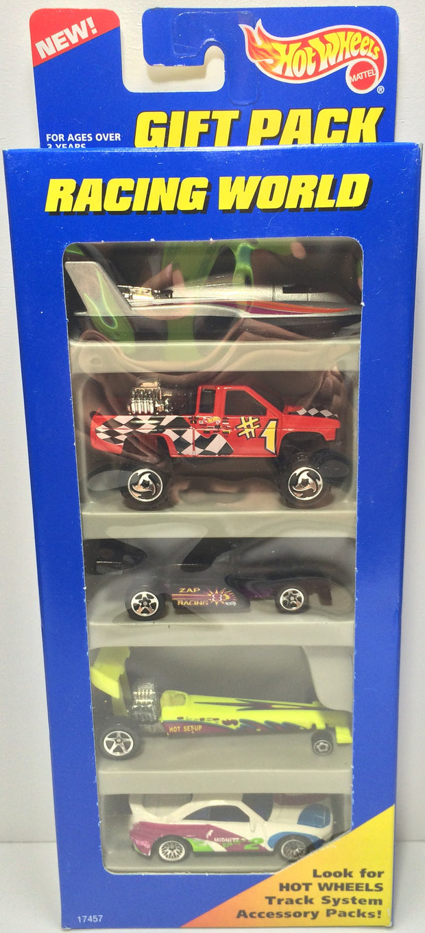 (TAS031816) - 1996 Mattel Hot Wheels Die-Cast Cars - Racing World Gift Pack Set, , Trucks & Cars, Hot Wheels, The Angry Spider Vintage Toys & Collectibles Store  - 1