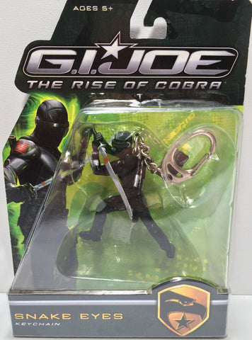 (TAS031820) - 2009 Hasbro G.I. Joe The Rise Of Cobra Keychain - Snake Eyes, , Keychain, G.I. Joe, The Angry Spider Vintage Toys & Collectibles Store  - 1