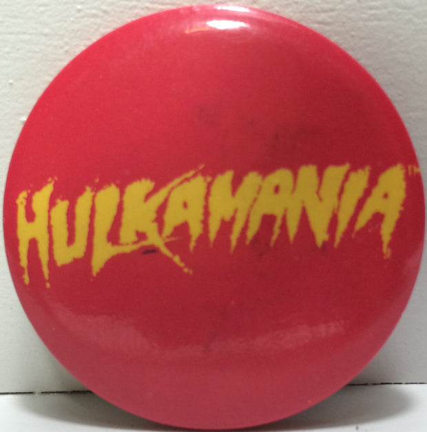 (TAS031823) - Vintage WWF WWE WCW Wrestling Button - Hulk Hogan Hulkamania, , Button, Wrestling, The Angry Spider Vintage Toys & Collectibles Store  - 1