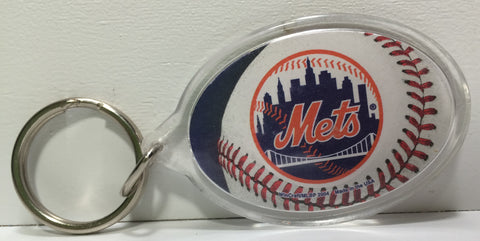 (TAS031826) - Vintage MLB Baseball Plastic Keychain - New York Mets, , Keychain, MLB, The Angry Spider Vintage Toys & Collectibles Store