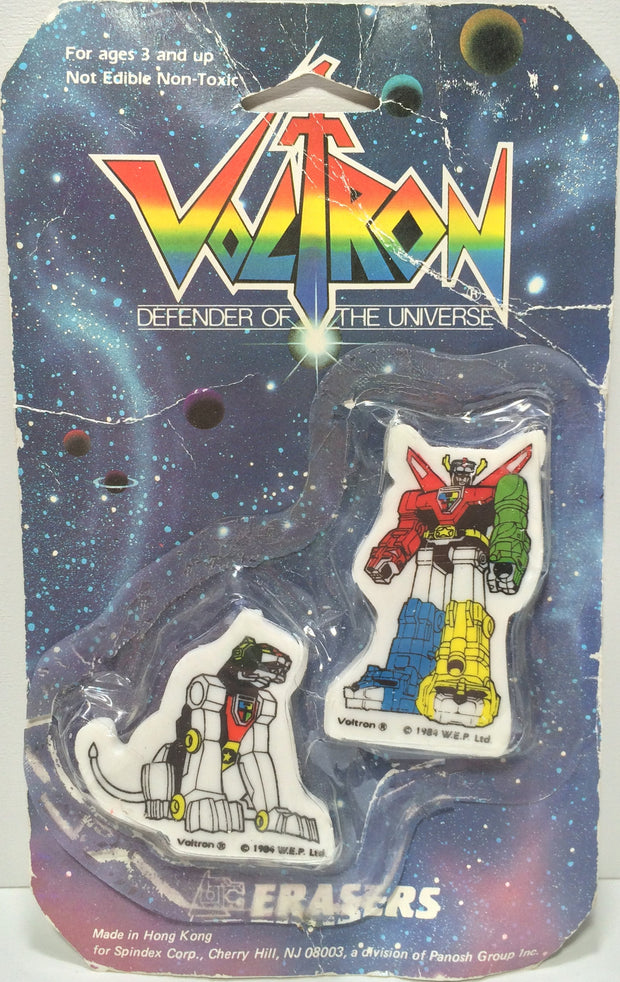 (TAS031834) - 1984 Spindex Voltron Defender Of The Universe Erasers, , Erasers, Voltron, The Angry Spider Vintage Toys & Collectibles Store  - 1