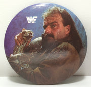 "(TAS031840) - Vintage WWF WWE WCW Wrestling Button - Jake ""The Snake"" Roberts, , Button, Wrestling, The Angry Spider Vintage Toys & Collectibles Store  - 1"