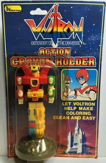 (TAS031858) - 1985 Talbot Toys Voltron Action Crayon Holder, , Crayons, Voltron, The Angry Spider Vintage Toys & Collectibles Store  - 1