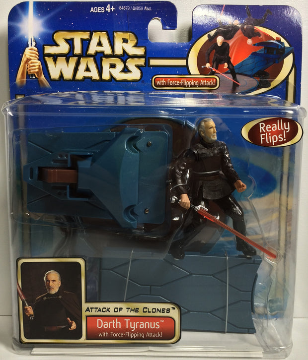 (TAS031867) - 2001 Hasbro Star Wars Attack Of The Clones - Darth Tyranus, , Action Figure, Star Wars, The Angry Spider Vintage Toys & Collectibles Store  - 1