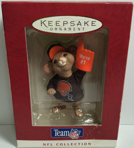 (TAS031872) - 1996 Hallmark Keepsake Holiday Ornament - NFL Cleveland Browns, , Ornament, NFL, The Angry Spider Vintage Toys & Collectibles Store  - 1