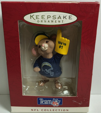 (TAS031875) - 1996 Hallmark Keepsake Holiday Ornament - NFL San Diego Chargers, , Action Figure, NFL, The Angry Spider Vintage Toys & Collectibles Store  - 1