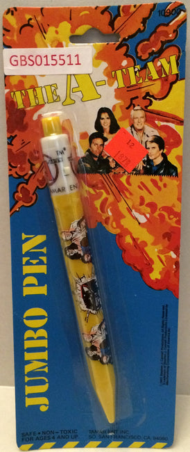 (TAS031991) - 1983 Vintage The A-Team Jumbo Pen, , Pen, A-Team, The Angry Spider Vintage Toys & Collectibles Store