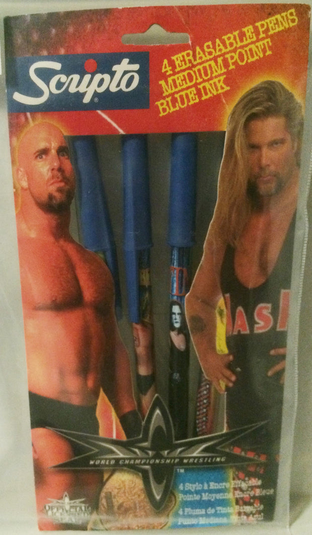 (TAS032022) - WCW Scripto Wrestling Erasable Pen Set - Kevin Nash & Goldberg, , Pen, Wrestling, The Angry Spider Vintage Toys & Collectibles Store