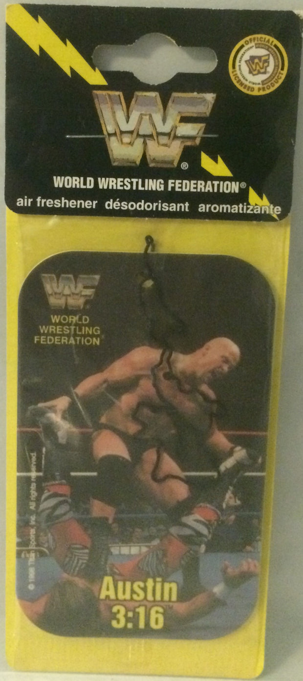 (TAS032029) - WWF WWE Wrestling Superstars Air Freshener - Steve Austin 3:16, , Wrestling, Wrestling, The Angry Spider Vintage Toys & Collectibles Store